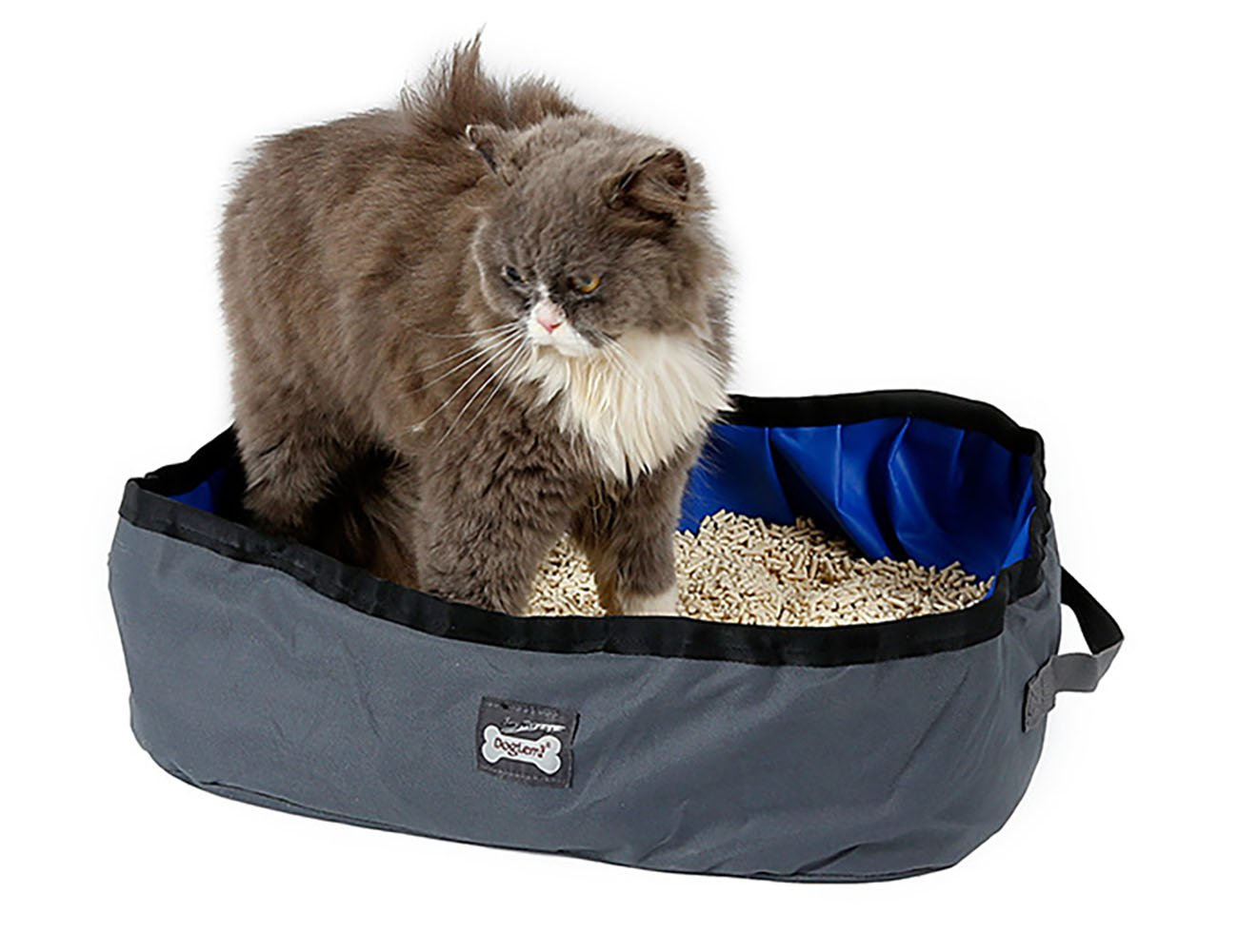 Uheng Cat Litter Box Soft Foldable Waterproof Pet Kitty Cat Litter Pan Portable for Travel Easy to Clean