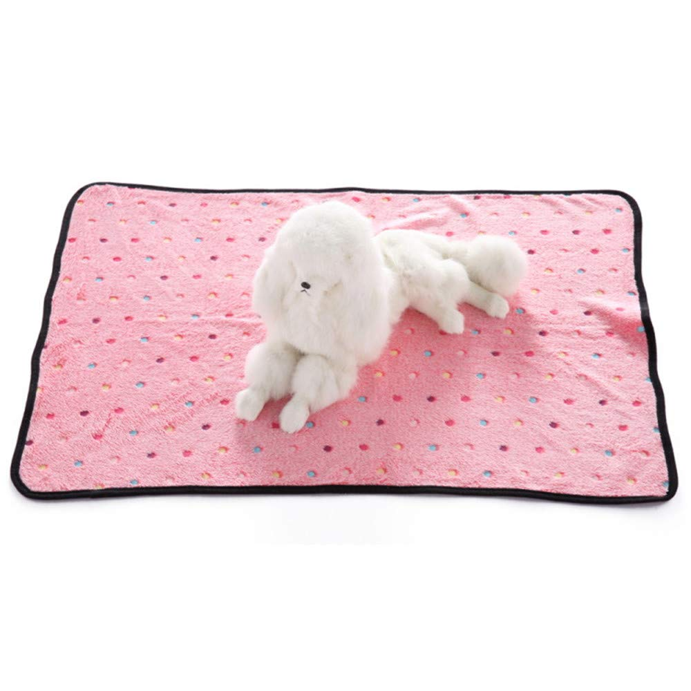 D Medium D Medium Super Soft Warm Puppy Dog Blanket Fleece Pet Dog Cat Sleep Bed Blankets Cover Mat Paw Print Kitties Puppies Guinea Pig,D,M