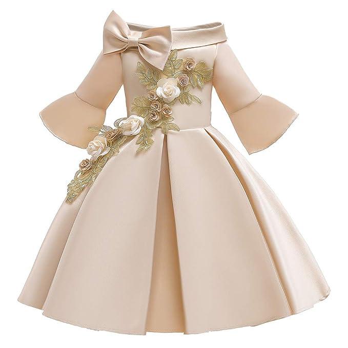 K-Youth Vestido de Fiesta Niña Vestidos para Ninas para Boda ...