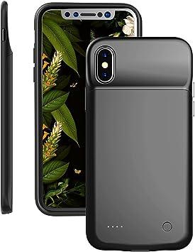 Carcasa con batería para iPhone X, I. Valux 3200 mAh Ultra Slim Cargador portátil Banco iPhone X iPhone 10, Extended Battery Pack Cover (Negro): Amazon.es: Electrónica