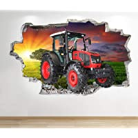 1Stop Z679 Graphics Shop Tractor muursticker 3D optiek - slaapkamer lounge natuur boerderij muur stickers