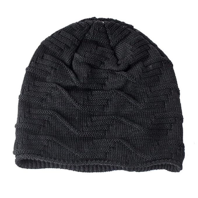 7004f3e3292 heekpek Men Baggy Slouchy Fleece-Lined Beanie Hat