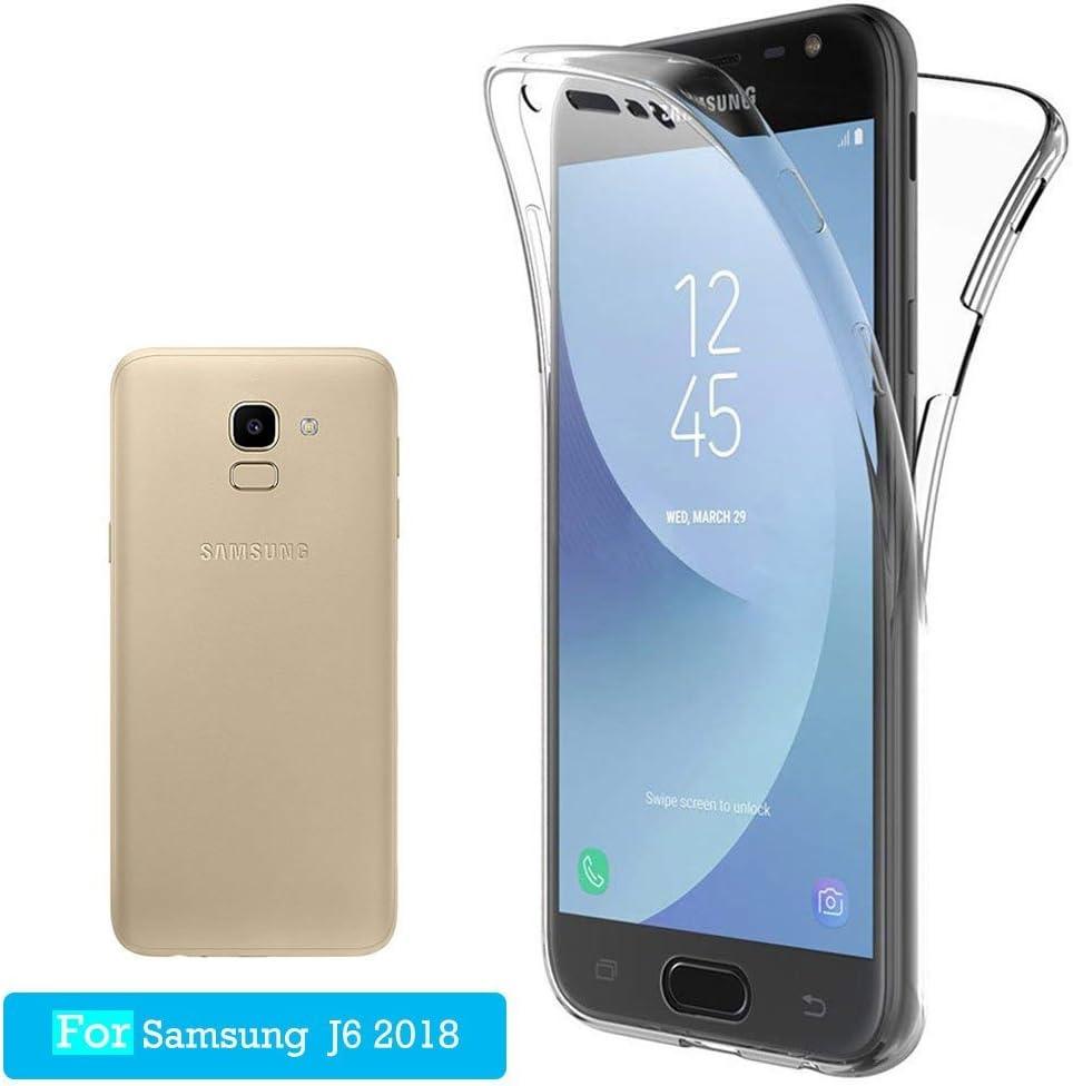 Funda Carcasas Samsung Galaxy J6 2018, JTMALL 360° Delantera + ...