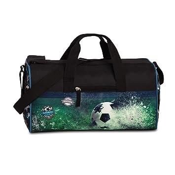 a65a69d15d8a5 FABRIZIO Kindersporttasche Sporttasche Reisetasche Fussball Soccer schwarz