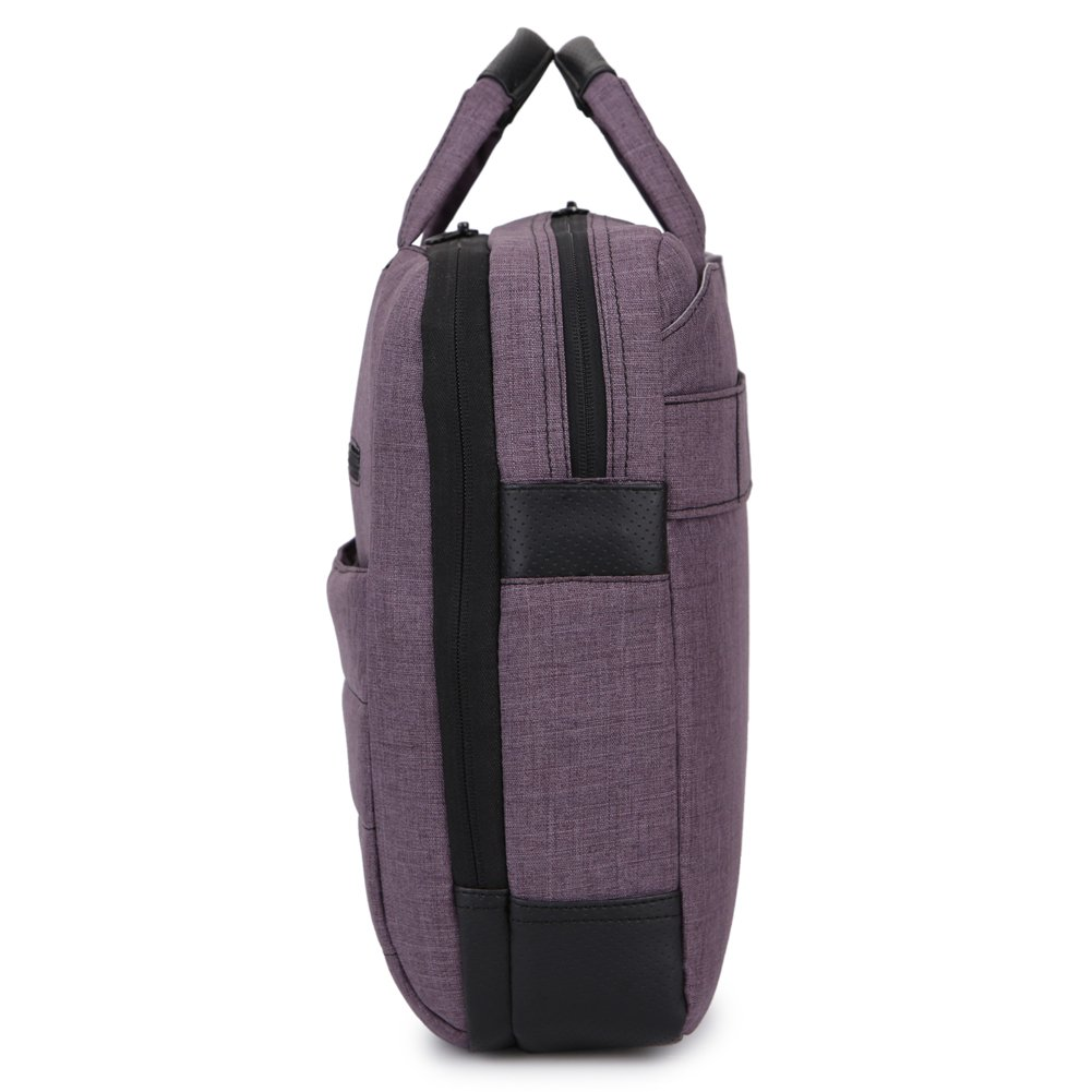 BRINCH 17.3 Inch Nylon Shockproof Carry Laptop Case Messenger Bag For 17-17.3 Inch Laptop/Notebook/MacBook/Ultrabook/Chromebook with Shoulder Strap Handles and Pockets (Dark Purple) by BRINCH (Image #8)