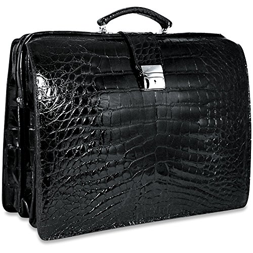 - Jack Georges American Alligator Collection Classic Briefbag AL505 (BLACK)