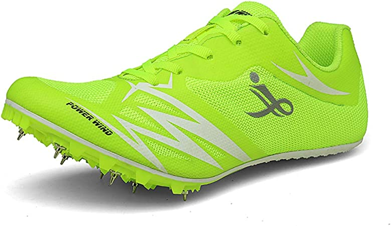 FJJLOVE Zapatillas de Atletismo Unisex Zapatillas de Cross Country Pistas de Atletismo Profesionales Zapatillas de Entrenamiento para Correr,Verde,35: Amazon.es: Hogar
