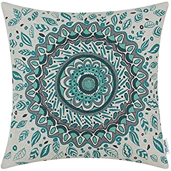 Amazon CaliTime Canvas Throw Pillow Cover Case For Couch Sofa Amazing Medallion Pillow Covers