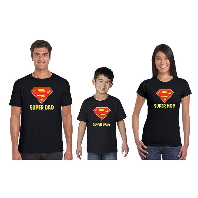 43b75ec1f YaYa cafe Super Hero Family Tshirts Set Combo for Mom Dad and Kids ...