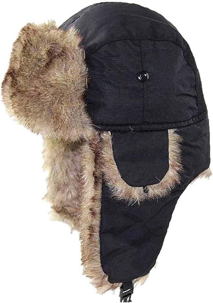 AMOYER Chapka En Fausse Fourrure Dhiver Chapeau Neige Oreille Rabats Pour La Chasse Ski Temps Froid Activit/és Cap Imperm/éable Coupe-vent Thermique