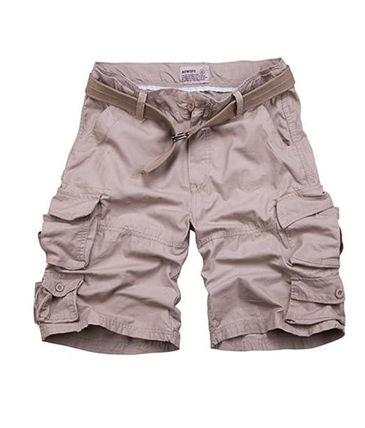 Pantalones Cortos Con Bolsillos Hombre Bermudas Cargo Shorts Pantalones Cortos Leisure Casual 1Iu7Pl1Y