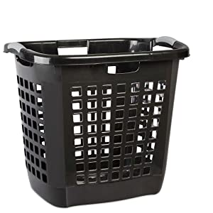 "STERILITE 19-7/8""BLK Carry Hamper, Black"