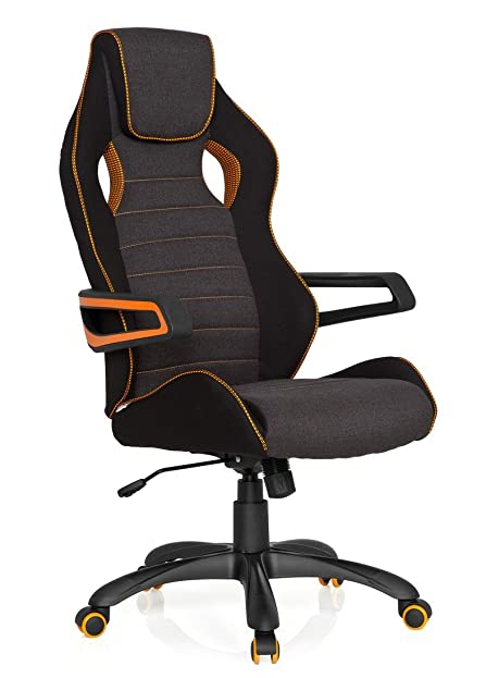 Chefsessel stoff  hjh OFFICE 621848 Racing Chefsessel RACER PRO III Stoff Schwarz ...