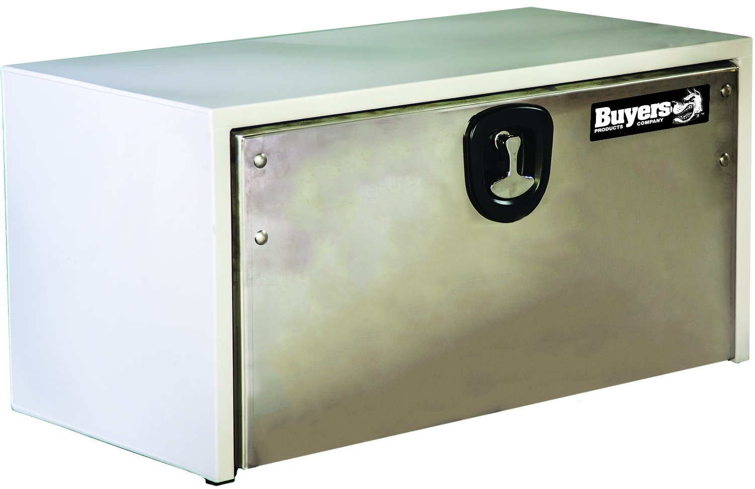 Buyers Products White Steel Underbody Truck Box w/Stainless Steel Door (18x18x48 Inch)