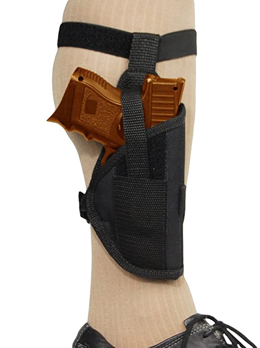 Barsony NEW Concealment Ankle Holster for Ruger SR9C and SR40C with Laser