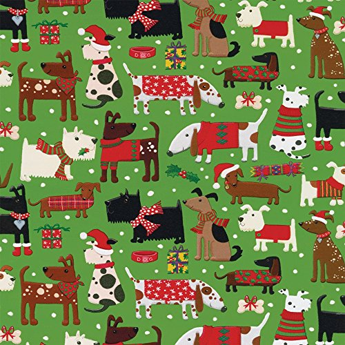 Entertaining with Caspari 9661RC Merry Woofmas Continuous Gift