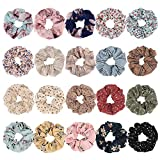 TOBATOBA 20 Pcs Chiffon Hair Scrunchies Large Size Hair Elastics Scrunchies Hair Bands Ties Hair Scrunchy Chiffon Ponytail Holder for Women