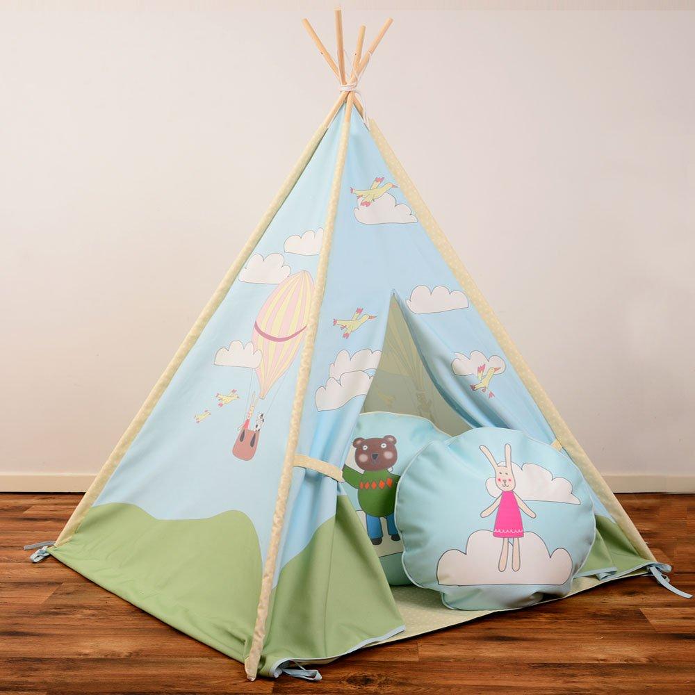 Children 's Kids Teepee Wigwam – Florence & Friends – インドアwithパッド入り床 – &デザインされ、ハンドメイドin the UK B01EIBAQ78