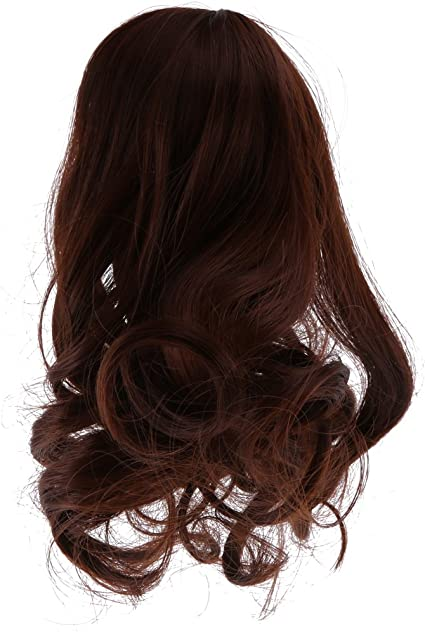 Black Long Wave Curly Hair Wig Hairpiece for 1//3 BJD Super Dollfie SD Making