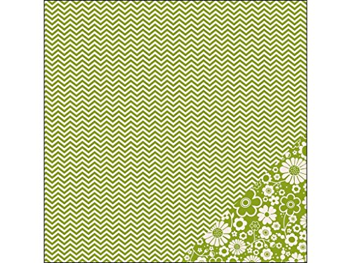 Pebbles Basics Paper 12x12 Leaf Chevron -