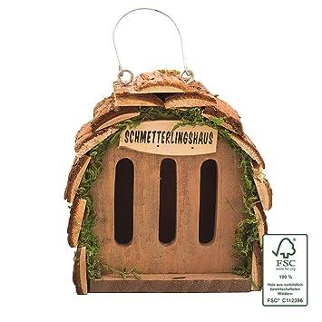 Gardigo Casa para criar mariposas, decoración de jardín, color madera natural: Amazon.es: Jardín