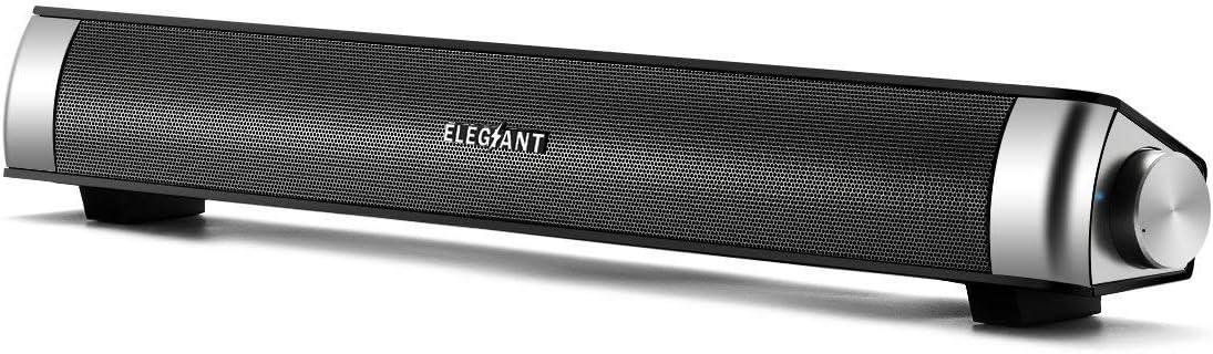 ELEGIANT Altavoz PC Barra de Sonido USB Sonido Estéreo Portátil Elegante Moderno Ligero para Música para Ordenador Portátil MP3 MP4 MDP Walk Man para Fiesta Al Aire Libre Regalo para Amigos: Amazon.es: