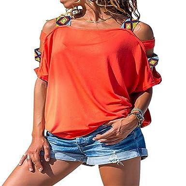 ca9694f597a02 Amazon | MIOIM オフショルダー トップス レディース 肩だし Tシャツ 半袖 春 夏 ゆったり カットソー 着回し オシャレ カジュアル  ブラウス | Tシャツ・カットソー ...