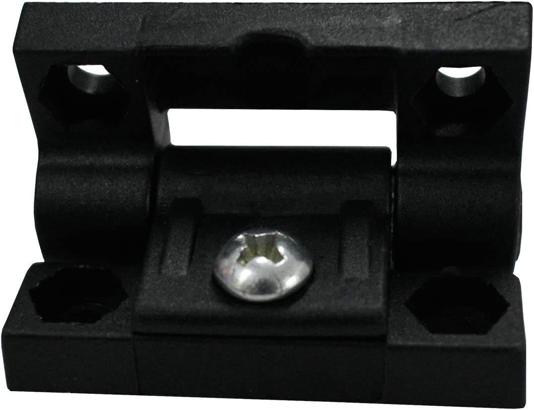 Alovexiong 10 Pack Plastic Door Cabinet Bearing Hinge Series Adjustable Torque Position Control Hinge with Holes Symmetric Torque