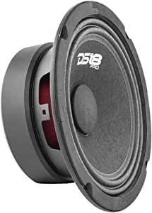 "DS18 PRO-GM6.4 Loudspeaker - 6.5"", Midrange, Black Steel Basket, 480W Max, 140W RMS, 4 Ohms - Premium Quality Audio Door Speakers for Car or Truck Stereo Sound System (1 Speaker)"