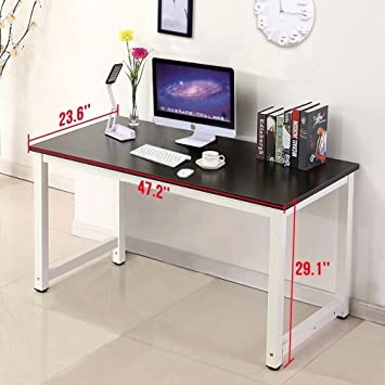 Swell Mecor Computer Desk Pc Laptop Table Work Station Home Office Furniture Black Home Interior And Landscaping Transignezvosmurscom