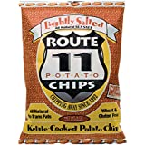 Route 11 Lightly Salted Potato Chips, kettle cooked in small batches, non-GMO, dairy free, peanut free, all natural snacks made in the USA (4 bags (6 oz each))