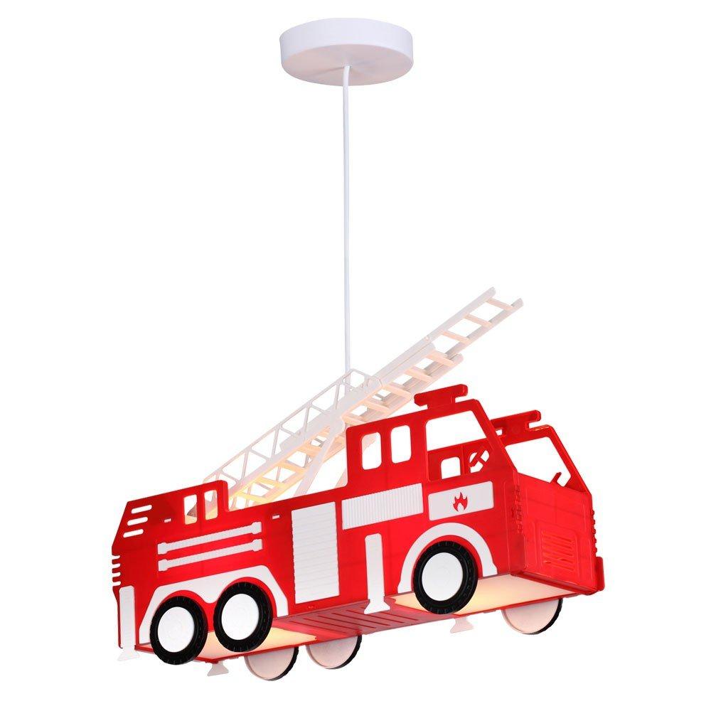 Feuerwehr Auto Hänge Leuchte rot Pendel Lampe Kinder Spiel Zimmer ...