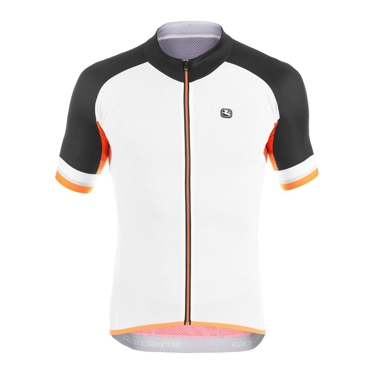 Giordana 2016メンズSilverline半袖サイクリングジャージー – gi-s6-ssjy-silv B01BN2G9RQ X-Large|White/Black/Orange White/Black/Orange X-Large