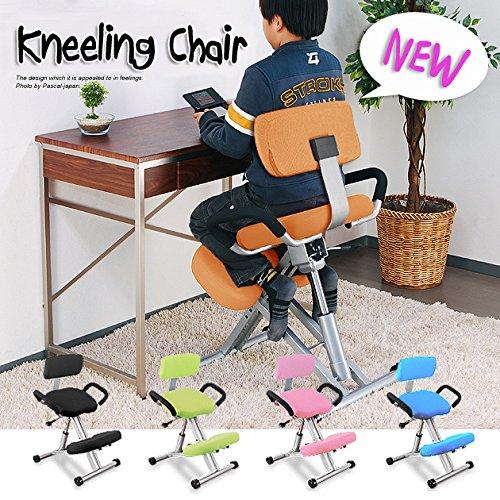 ニーリングチェア (外せる)背もたれ ライトオレンジ キッズチェア 長時間 学習椅子 バックボーンチェア 子供用 椅子 姿勢 改善 B06ZXXKTKD Parent