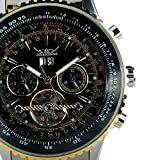 TODDCAHALAN Mens Stainless Steel Date Mechanical Sport Clock Hours Automatic Watch