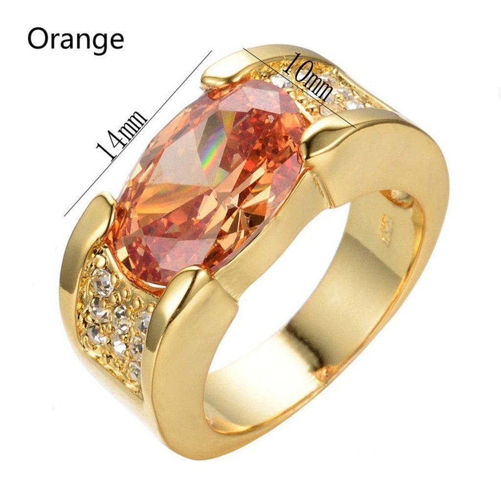oobest sintetico rubino cristallo color oro wedding Band Rings Lunxury inciso anello da uomo, in acciaio INOX