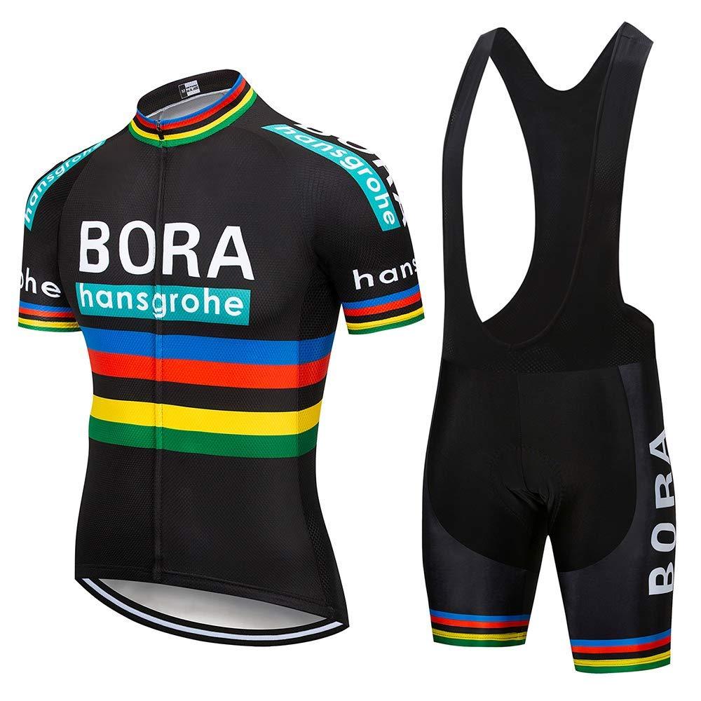 Abbigliamento Sportivo da Ciclismo con Pantaloni Ciclismo Salopette Asciugatura Rapida per MTB Ciclista SUHINFE Maglia Ciclismo Uomo Manica Corta