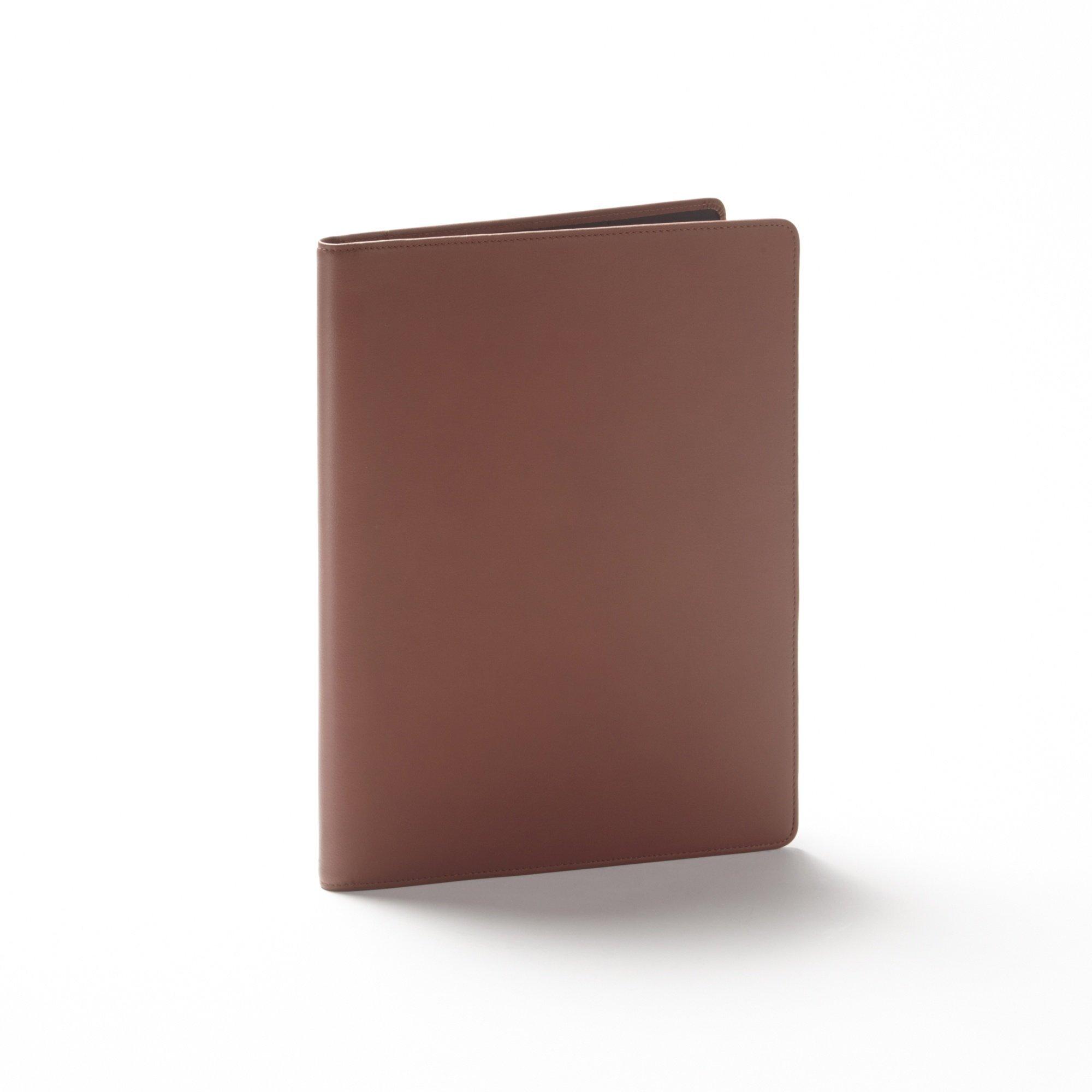 Leather Folder - Full Grain Leather - Cognac (brown)