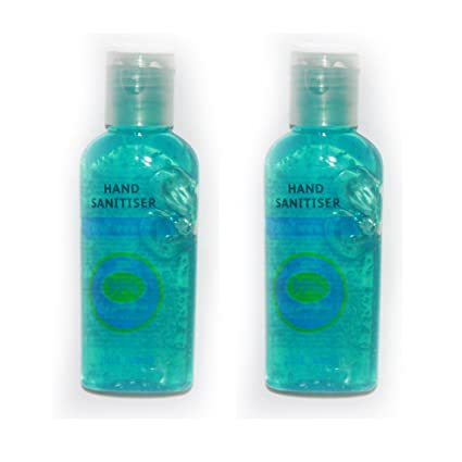 2 x Mejor MANO Calidad HAND SANITIZER DESINFECTANTE azul Alcohol Fragancia botella Gel Corporal Antibacterial Jabón