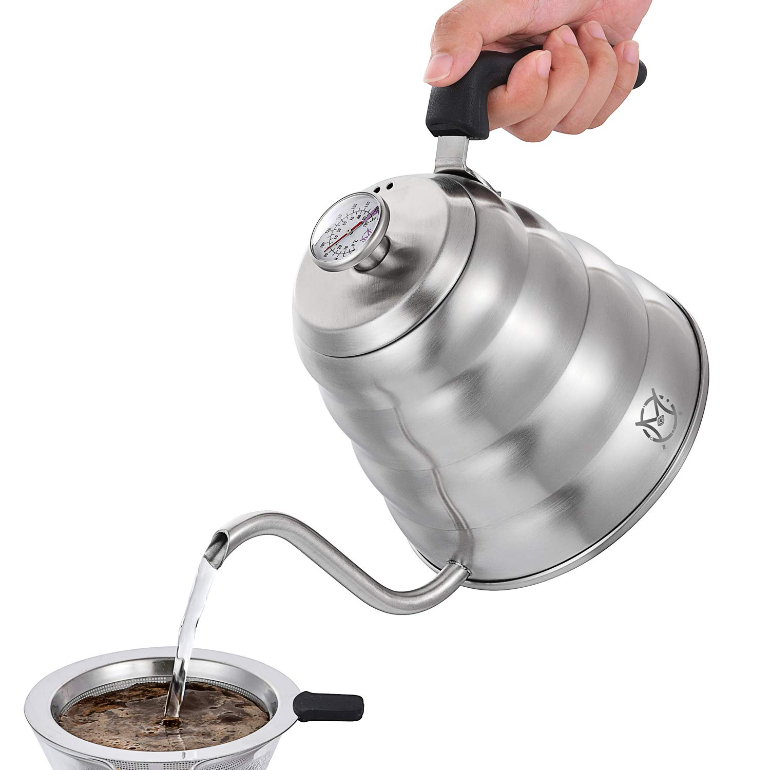 Magicafé Pour Over Coffee Kettle - Stainless Steel Gooseneck with Built In Thermometer for Exact Temperature - 40OZ 1.2 Liter 1200ML by MAGICAFÉ (Image #6)