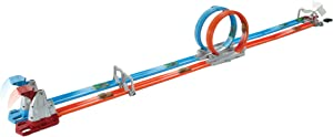 Hot Wheels Double Loop Dash Drag Racing with 2 Vehicles Playset