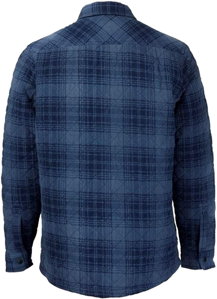 Lee Cooper Hombre Camisa Acolchada Azul Plaid S: Amazon.es: Ropa y accesorios