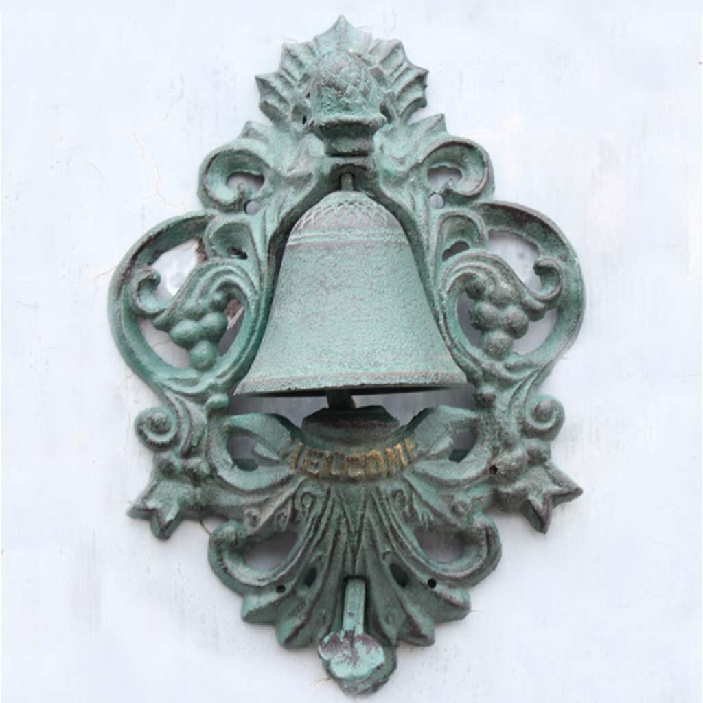CXQ ヨーロッパスタイルの鋳鉄ドアベルレトロ工芸品パイナップルロゴハンドプレスドアベルベルガーデンホーム壁の装飾 B07MNG29Y9