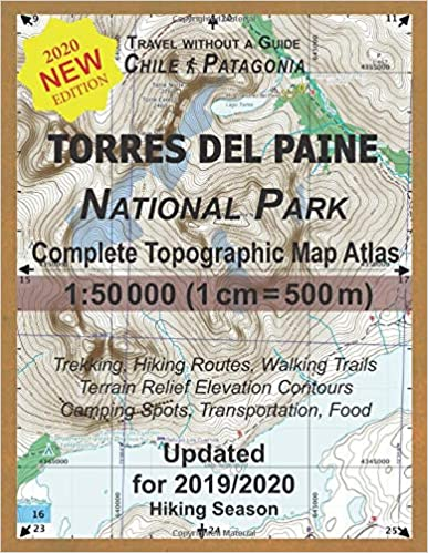 Updated Torres Del Paine National Park Complete Topographic