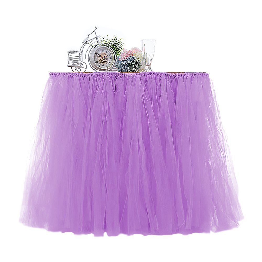 Amazoncom Fit Design Romantic Tutu Table Skirt Tulle Tableware