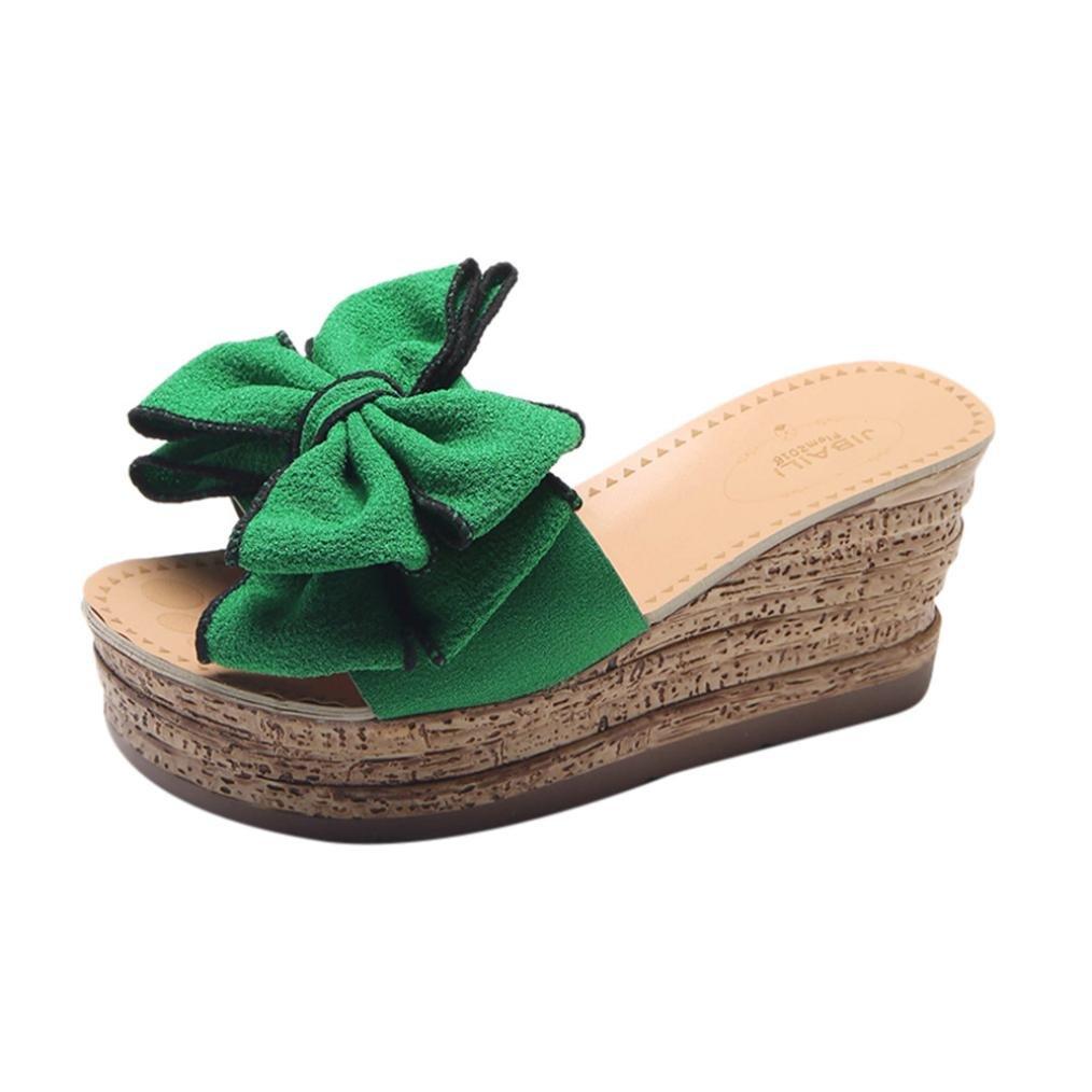 Sandales de Femme, Yesmile Pantoufles à Talons B079YBJG24 Sandales Vert Hauts Sandales de Fond Épais CompenséesTongs Femmes Chaussures Fleur Doux Printemps et Été Sandales Décontractée Vert 3 cdd45c7 - reprogrammed.space