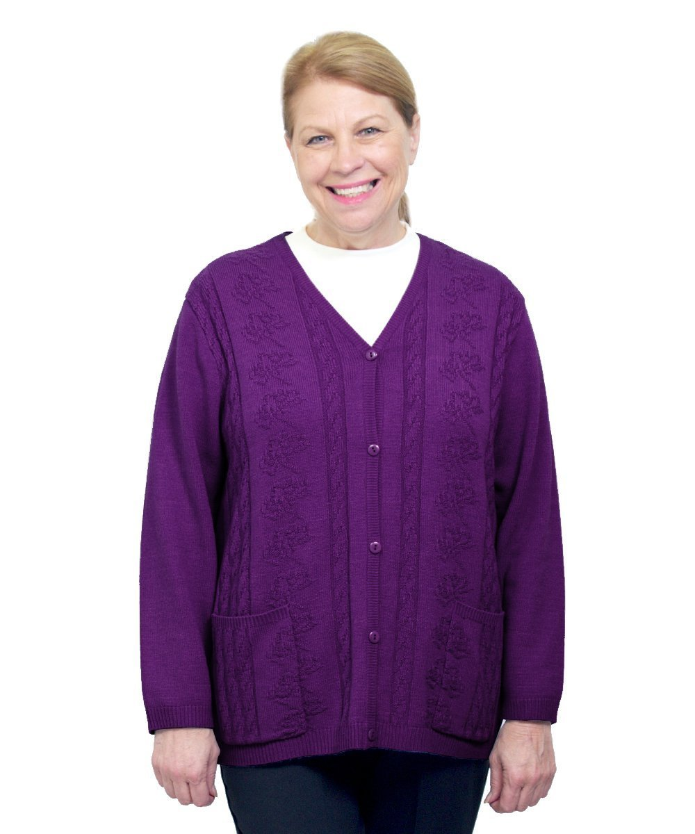 Silverts Adaptive Cardigan Sweater - Disabled Clothing Silvert' s 27080