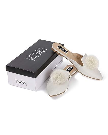 f4afcf87dbf34 MeMoi Vida Mule Slippers | Women's Hard Sole Luxury Slippers Off ...