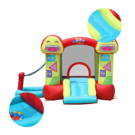 Castillo hinchable Castillo Inflable Smiley De Salto De Cama ...