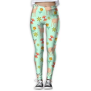 4c7b9d83e4734 Yoga leggings goat flower clipart womens full length workout thin capris  pants jpg 385x385 Capri pants
